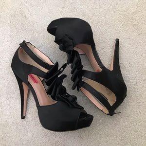 Betsey Johnson Shoes - Betsey Johnson Iconnn Black Heels Stiletto 8.5